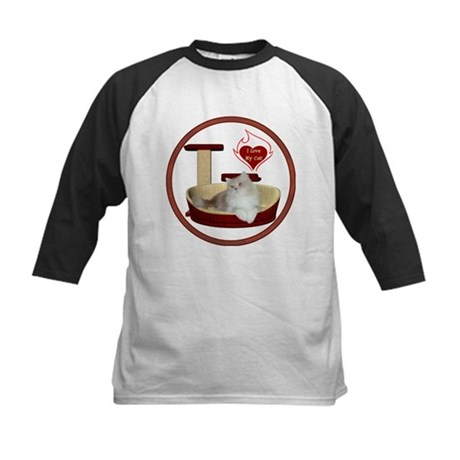 Cat #4 Kids Baseball Jersey
