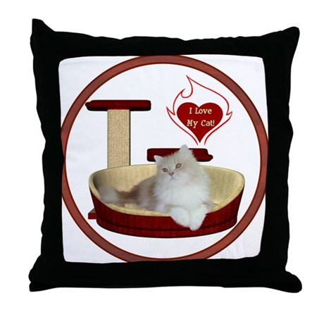 Cat #4 Throw Pillow