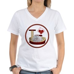 Cat #5 Women's V-Neck T-Shirt