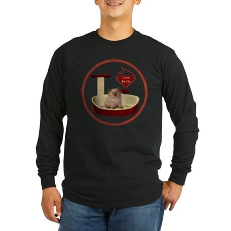 Cat #6 Long Sleeve Dark T-Shirt