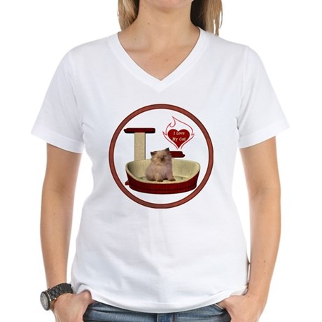 Cat #6 Women's V-Neck T-Shirt