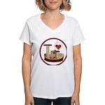 Cat #6 Women's V-Neck T-Shirt