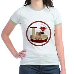 Cat #6 Jr. Ringer T-Shirt
