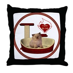 Cat #6 Throw Pillow