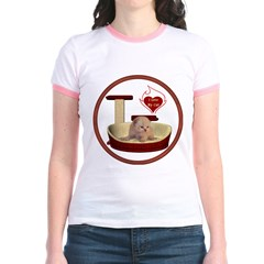 Cat #7 Jr. Ringer T-Shirt