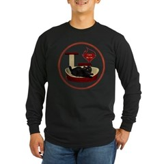 Cat #8 Long Sleeve Dark T-Shirt