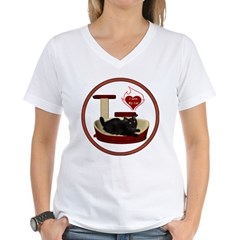 Cat #8 Women's V-Neck T-Shirt
