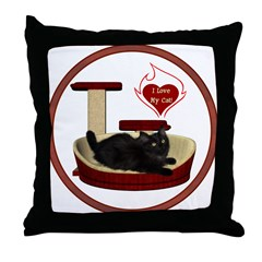 Cat #8 Throw Pillow