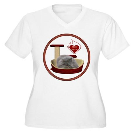 Cat #9 Women's Plus Size V-Neck T-Shirt