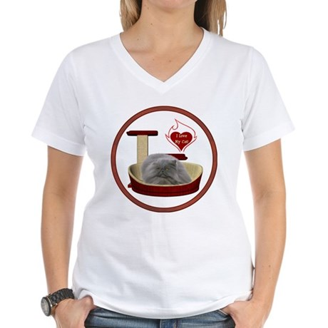 Cat #9 Women's V-Neck T-Shirt