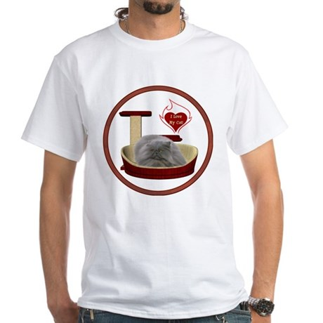 Cat #9 White T-Shirt