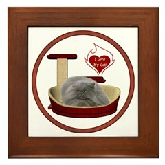 Cat #9 Framed Tile
