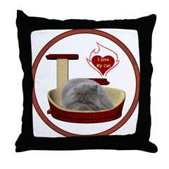 Cat #9 Throw Pillow