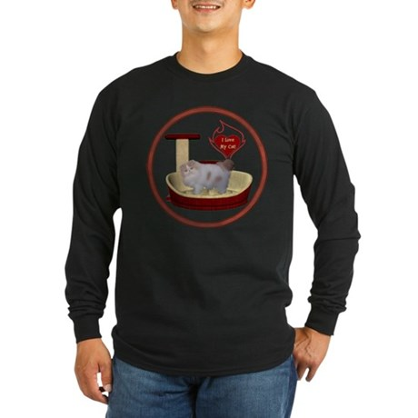 Cat #10 Long Sleeve Dark T-Shirt