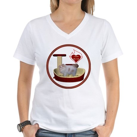 Cat #10 Women's V-Neck T-Shirt