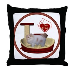 Cat #10 Throw Pillow