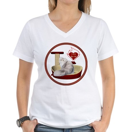 Cat #11 Women's V-Neck T-Shirt