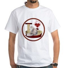 Cat #11 White T-Shirt