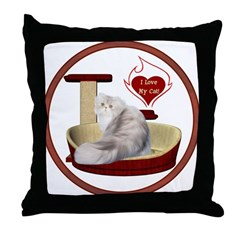Cat #11 Throw Pillow