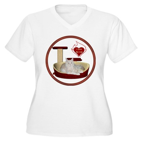 Cat #12 Women's Plus Size V-Neck T-Shirt
