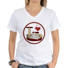 Cat #12 Women's V-Neck T-Shirt
