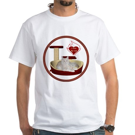 Cat #12 White T-Shirt