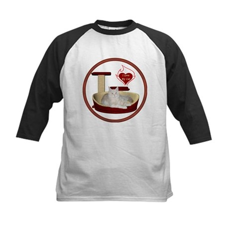 Cat #12 Kids Baseball Jersey