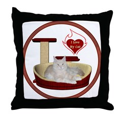 Cat #12 Throw Pillow