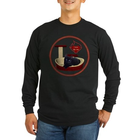 Cat #13 Long Sleeve Dark T-Shirt