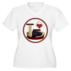 Cat #13 Women's Plus Size V-Neck T-Shirt