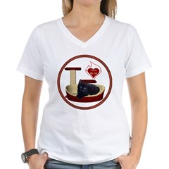 Cat #13 Women's V-Neck T-Shirt