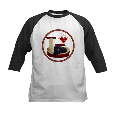 Cat #13 Kids Baseball Jersey