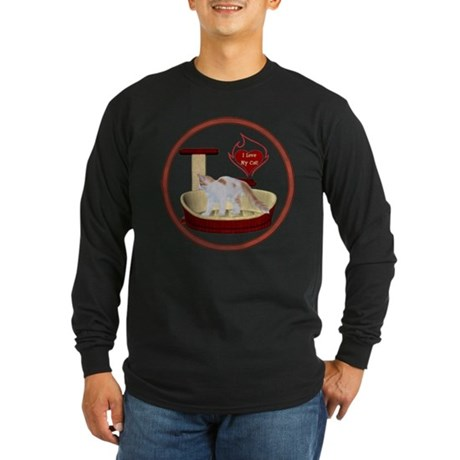 Cat #14 Long Sleeve Dark T-Shirt