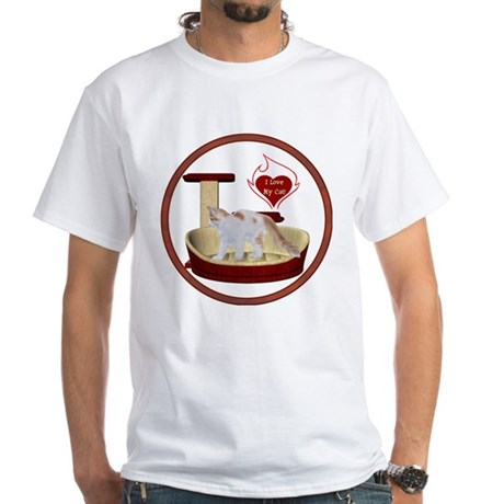 Cat #14 White T-Shirt