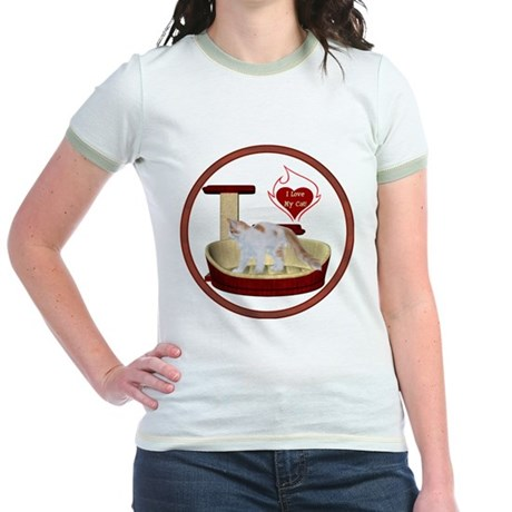 Cat #14 Jr. Ringer T-Shirt