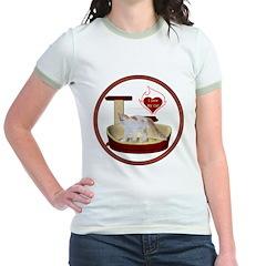 Cat #14 Jr. Ringer T-Shirt