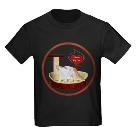 Cat #14 Kids Dark T-Shirt