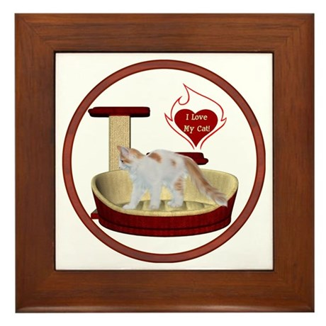 Cat #14 Framed Tile