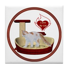 Cat #14 Tile Coaster
