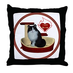 Cat #15 Throw Pillow