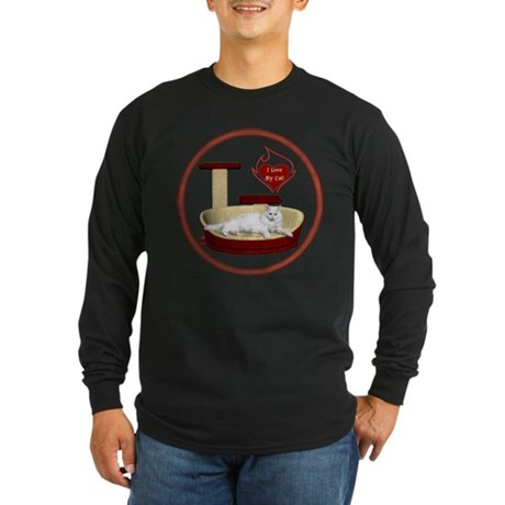 Cat #16 Long Sleeve Dark T-Shirt