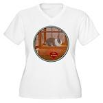 Bunny #1 Women's Plus Size V-Neck T-Shirt