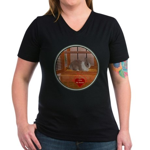 Bunny #1 Women's V-Neck Dark T-Shirt