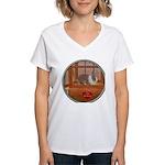 Bunny #1 Women's V-Neck T-Shirt