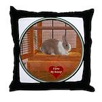 Bunny #1 Throw Pillow