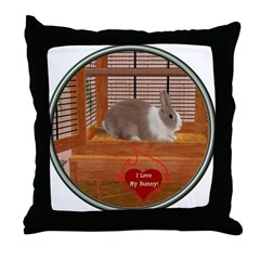 Bunny #1 Throw Pillow