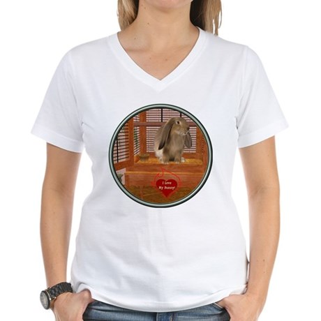 Bunny #2 Women's V-Neck T-Shirt