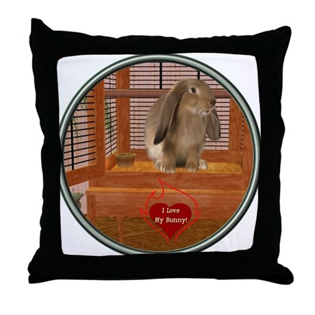 Bunny #2 Throw Pillow