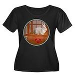 Bunny #3 Women's Plus Size Scoop Neck Dark T-Shirt