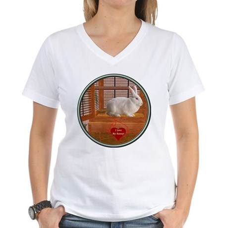Bunny #3 Women's V-Neck T-Shirt